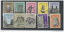 YEMEN : STATUES DE MAREB N° Yvert 99/108 Obli. - Yémen