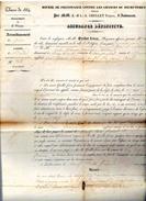Classe 1834 Dèpartement De La Creuse Arrondissement De Guèret Canton De Bonnat - Documents Historiques