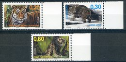 LUXEMBOURG   LUXEMBURG   2013   Yvert 1922/1924   FELINS   Tigre, Chat, Lynx   Tiger, Cat, Lynx