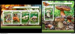 TOGO 2016 - Mushrooms, M/S + S/S. Official Issue. - Paddestoelen