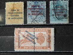 MAROC ESPAGNOL 1916/1920 4 Valeurs (3 O / 1 * - Voir 2 Scan) - Marocco Spagnolo