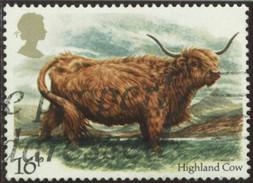 GB Yv. N°1117 - Elevage Bovin Britannique - 16p Vache Des Highlands - Oblitéré - Gebraucht