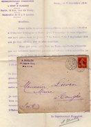 VP7922 - Lettre & Enveloppe - Mr A. DUCLOS Représentant Financier De L'Etat D'ALAGOAS ( Brésil ) à PARIS - Bank & Insurance