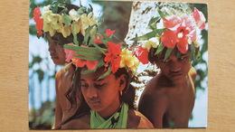 TAHITI ENFANTS DES ILES Carte Postale Neuve Années 70 Très Bon état Dos Partagé - Polynésie Française