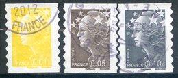 FRANCE   2008   Yvert Adhésif 208/210   Marianne De Beaujard   Oblit / Used