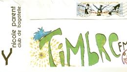 """ENVELOPPE AVEC TIMBRE """"CHAMPIONNATS DU MONDE D ATHLETISME"""" ANNEE 2003 OBLITERE - France"""
