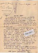 VP7923 - TIPAZA ( Algérie ) - Lettre & Enveloppe Illustrée - Mr E. CHAUVIN Ancien Député De Seine & Marne Né à PROVINS - Autographs