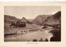 GORGES DE LA LOIRE, Planche Densité = 200g, Format 20 X 29 Cm, (Closier) - Géographie