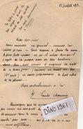 VP7924 - Lettre De  Mr Emile CHAUVIN Ancien Député De Seine & Marne Né à PROVINS - Autographs