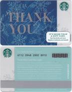 Starbucks - USA - 2015 - CN 6112 SB18 Thank You - Gift Cards