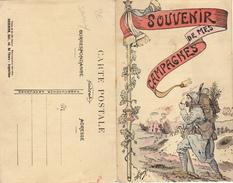 MILITARIA-SOUVENIR DE MES CAMPAGNES-ANTOINE LOUDON-HONNEUR AU 358e REGIMENT D'INFANTERIE-ILLUSTRATEUR JARRY-CARTE DOUBLE - Régiments