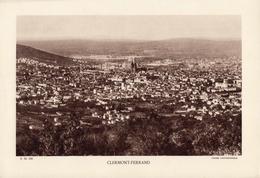 PUY DE DOME, CLERMONT FERRAND, Planche Densité = 200g, Format 20 X 29 Cm, (Gouttefangeas) - Géographie