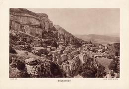 LANDES, ROQUEFORT, Planche Densité = 200g, Format 20 X 29 Cm, (Société Des Caves) - Géographie
