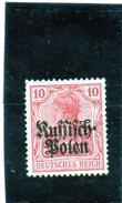 B - Germania 1915 - Occupazione Della Polonia (nuovo Linguellato) - Occupazione 1914 – 18