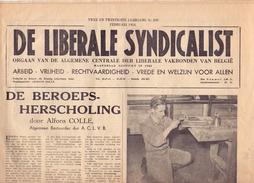Krant Gazette Journal - De Liberale Syndicalist - A. Colle Gent - Bijdrage Overlijden Julius Hoste - 1954 - Pratique