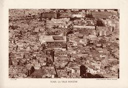TUNIS, LA VILLE INDIGENE, Planche Densité = 200g, Format 20 X 29 Cm, (Cie Aérienne Française) - Géographie