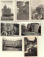 VOITURES - AUTOMOBILES  - 7 PHOTOS ORIGINALES Dim 9x6,5 Cms - Années 1938 - 1948 - Plaatsen