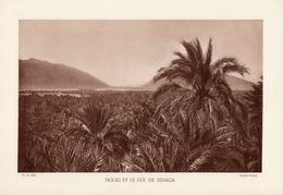 MAROC, FIGUIG ET LE COL DE ZENEGA, Planche Densité = 200g, Format 20 X 29 Cm, (Ofalac) - Géographie