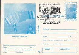 55696- KESTREL PARAGLIDER, PARACHUTTING, POSTCARD STATIONERY, 1994, ROMANIA