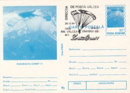 55697- COMET 11 PARAGLIDER, PARACHUTTING, POSTCARD STATIONERY, 1994, ROMANIA