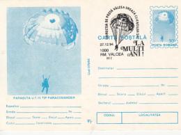 55698- PARACOMANDER UT 15 PARAGLIDER, PARACHUTTING, POSTCARD STATIONERY, 1994, ROMANIA