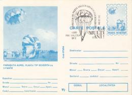 55701- AUREL VLAICU- SOVERTH PARACHUTTE, PARACHUTTING, POSTCARD STATIONERY, 1994, ROMANIA