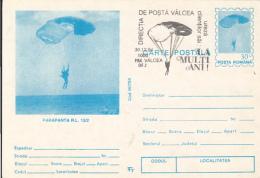 55704- RL 12/2 PARAGLIDER, PARACHUTTING, POSTCARD STATIONERY, 1994, ROMANIA