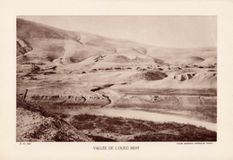 MAROC, VALLEE DE L'OUED BEHT, Planche Densité = 200g, Format 20 X 29 Cm, (Rés. Sup. Maroc) - Géographie
