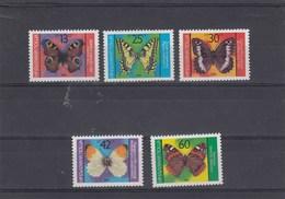 Bulgarie - Neufs** - Année 1984 - Papillons Divers - YT 2882/2886 - Bulgaria