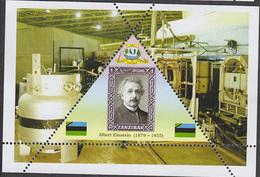 PHYSICIST Albert Einstein   TRIANGULAR STAMP  1 Sheet LIMITED EDITION  CINDERELLA