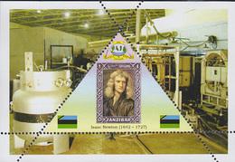 PHYSICIST Isaac Newton  TRIANGULAR STAMP  1 Sheet LIMITED EDITION  CINDERELLA