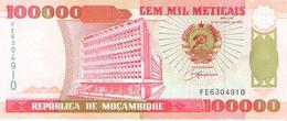 Mozambique - Pick 139 - 100.000 (100000) Meticais 1993 - Unc - Mozambico