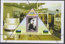 PHYSICIST Marie Curie  TRIANGULAR STAMP  1 Sheet LIMITED EDITION  CINDERELLA