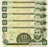 NICARAGUA 10 CENTAVOS ND (1990) P-169 UNC PREFIX A/E 5 PCS [NI463b] - Nicaragua