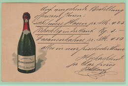 S17 Entier Postal Repiqué/Zudruck CP  + Champagne Strub   Blankenhorn Bâle Et St-Louis Basel 18.1.98 - Interi Postali