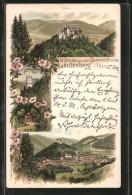 Lithographie Leutenberg, Kaiser Friedrich Turm, Sizzo's Höhe, Friedensburg - Leutenberg