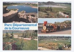 93 -  LA COURNEUVE - PARC DÉPARTEMENTAL  - TRAIN TOURISTIQUE- RECTO/VERSO--C76 - La Courneuve