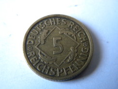 ALLEMAGNE -III REICH - 5 REICHSPFENNIG 1935.E. - [ 4] 1933-1945 : Tercer Reich