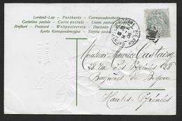 Paris - 5 C Type Blanc Oblitéré XVIII - Marcophilie (Lettres)