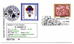 Ballon Post Christkindl (07.12.1986) Ergee_Autriche - FDC & Commémoratifs
