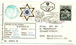 Ballon Post Christkindl (27.11.1967) Ergee_Autriche_Salzburg_étoile Du Berger - FDC & Commémoratifs