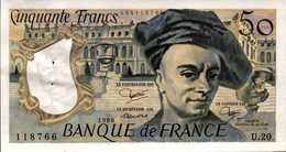FRANCE 50 FRANCS Quentin De La Tour De 1980  PicK 152b  F67/6  AU/SPL - 1962-1997 ''Francs''