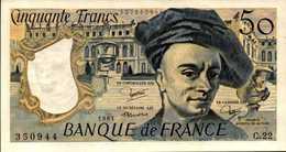 FRANCE 50 FRANCS Quentin De La Tour De 1981  PicK 152b  F67/6  AU/SPL - 1962-1997 ''Francs''