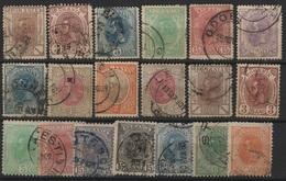 RO 15 - ROUMANIE 19 Valeurs Entre N° 99 Et 134 Oblitérés - 1881-1918: Charles Ier