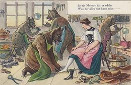 Bären Beim Schuhmacher - Sign. K. Gehri - 1923     (P17-40704) - Autres Illustrateurs