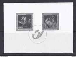 Belgie - Belgique GCB8 - Zwart-wit Velletje Uit Jaarboek 2004  -  Kerstzegels 3332/33  - NIET GEKWOTEERD - Feuillets Noir & Blanc