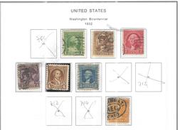 Usa Stamps 1932 Washington Bic. Scott.705/710+715 See Scan - Usati