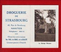 1 Calendrier 1951 Droguerie De Strasbourg Nantes - La Grange Bleneau - Calendriers