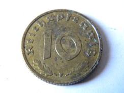 ALLEMAGNE - III REICH - 10 REICHSPFENNIG 1937.F.