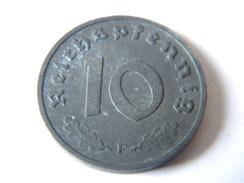 ALLEMAGNE - III REICH - 10 REICHSPFENNIG 1944.F.